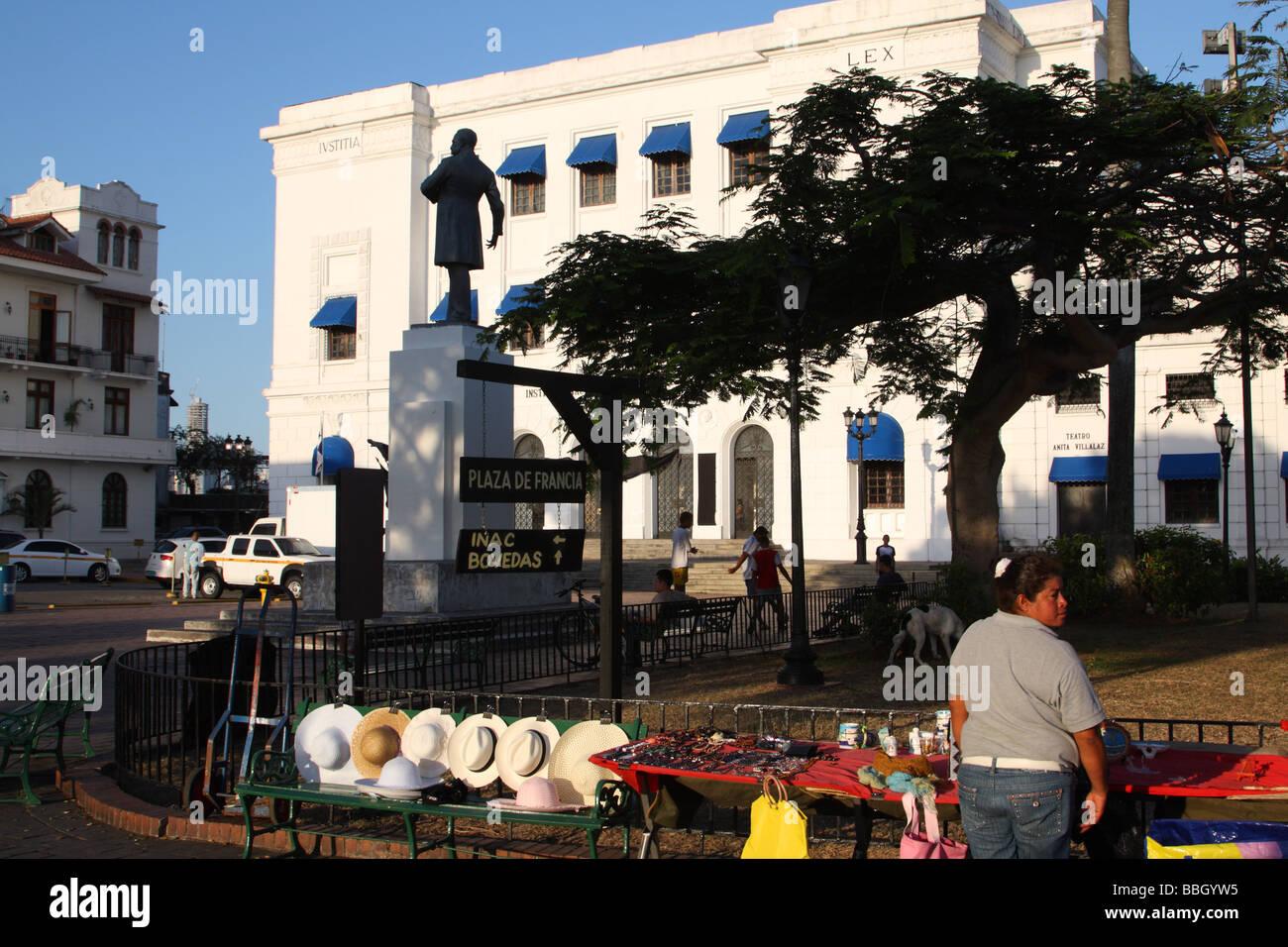 Panama City Plaza de Francia Casco Viejo Aprile 2009 Immagini Stock