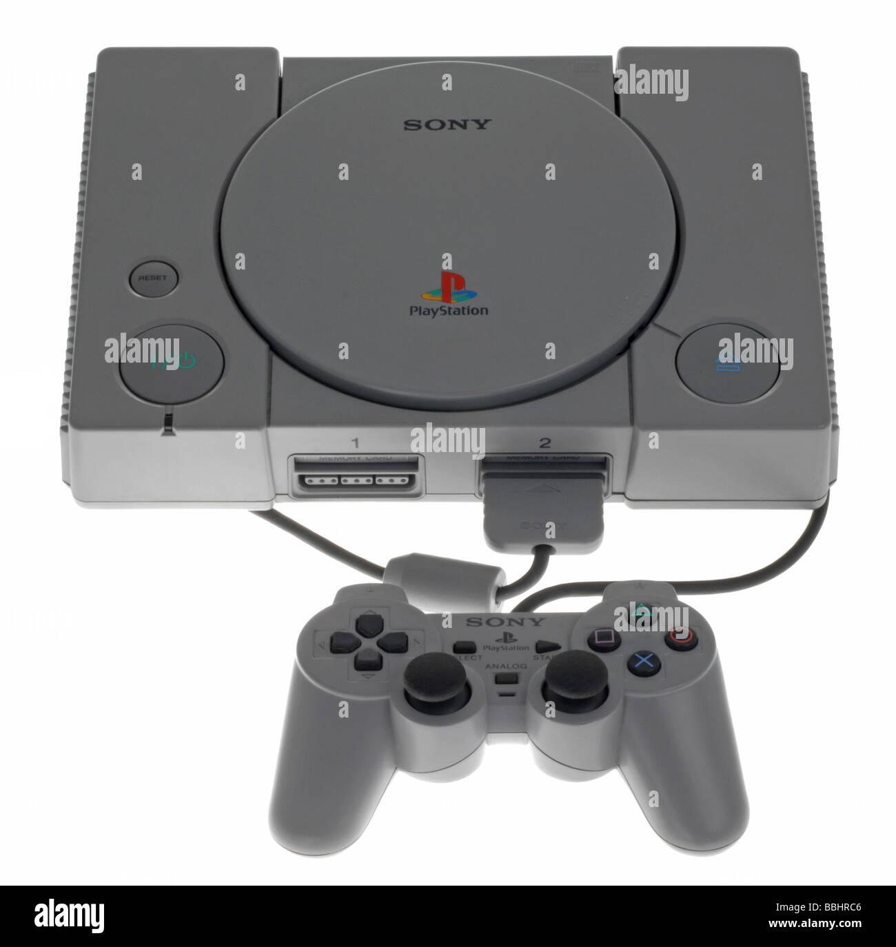 Originale console Playstation Immagini Stock