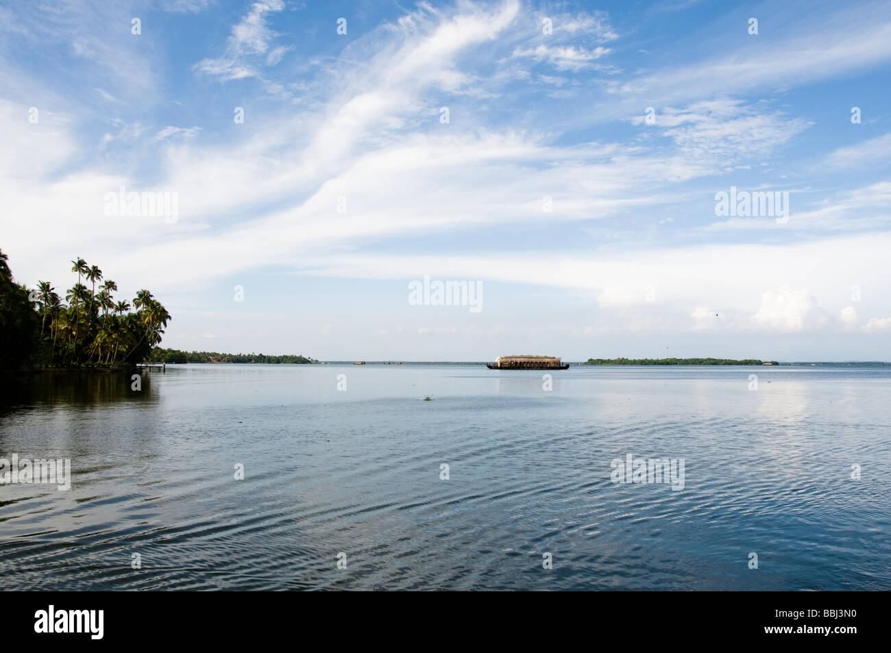 Ancora oggi il lago di acqua Alleppey Immagini Stock