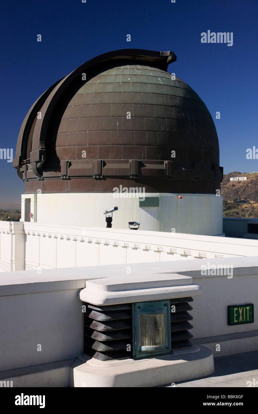 Osservatorio Griffith di Los Angeles in California Immagini Stock