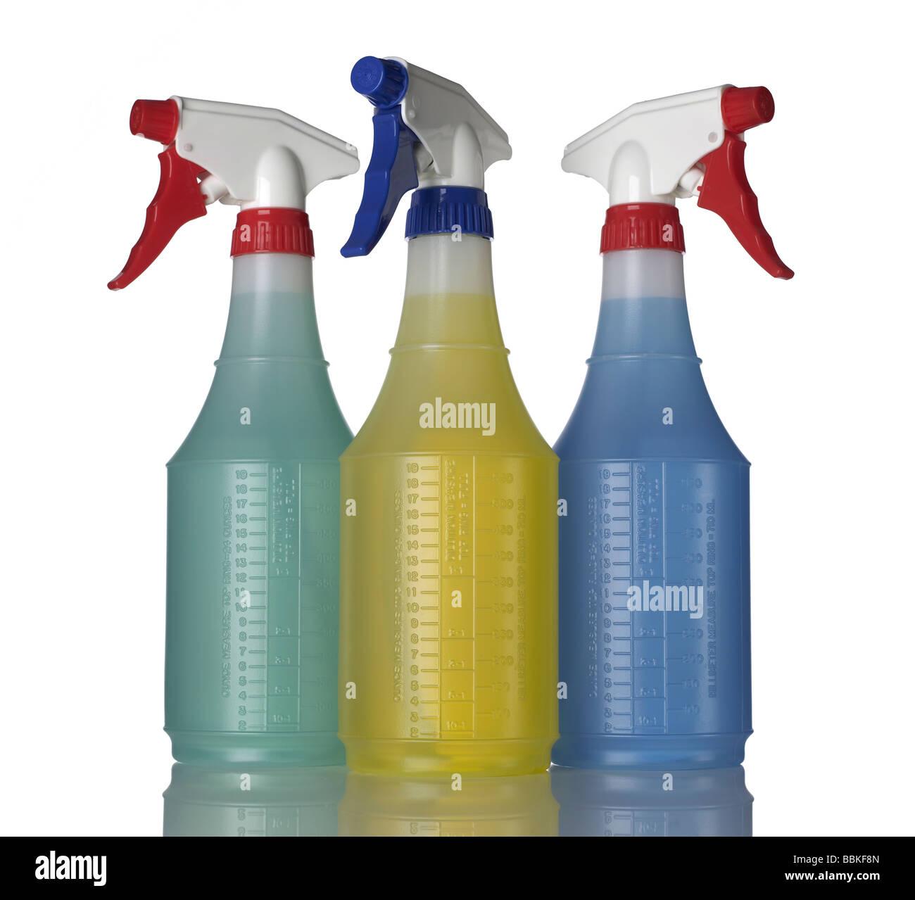 Tre 3 flacone spray Immagini Stock