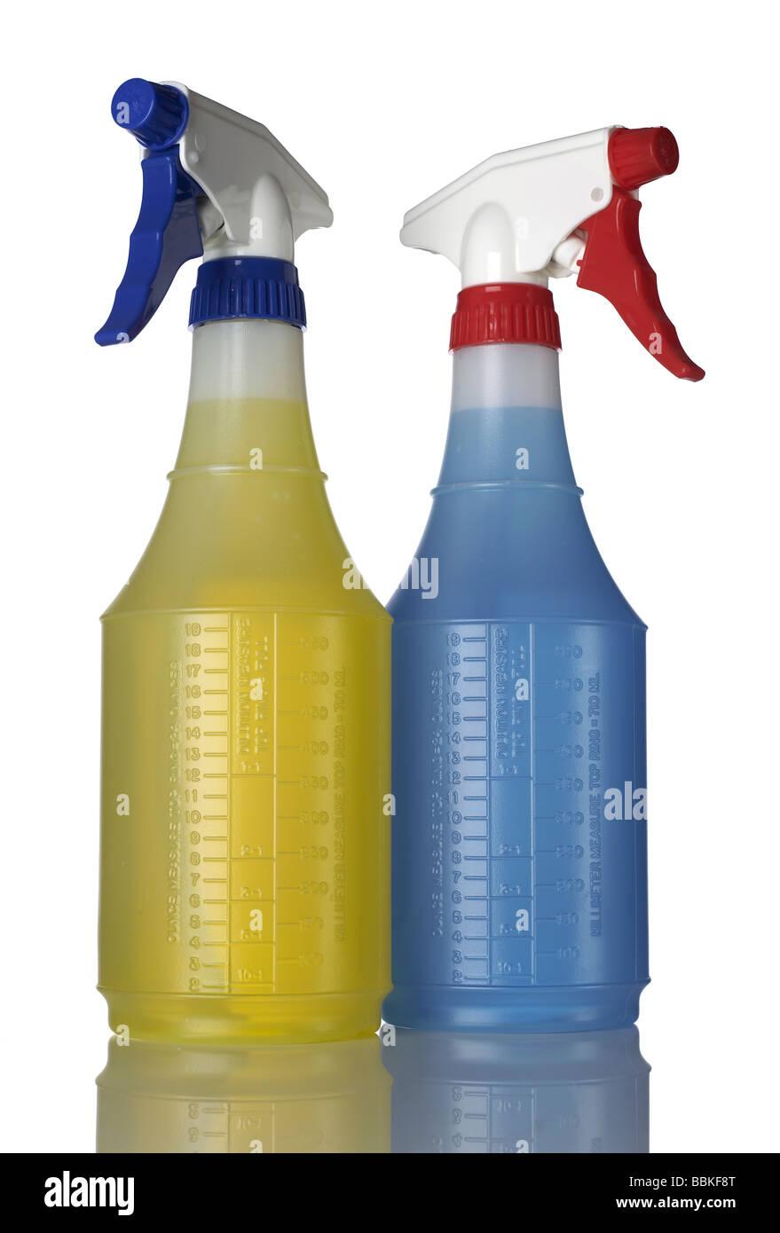 2 due bottiglie spray Immagini Stock