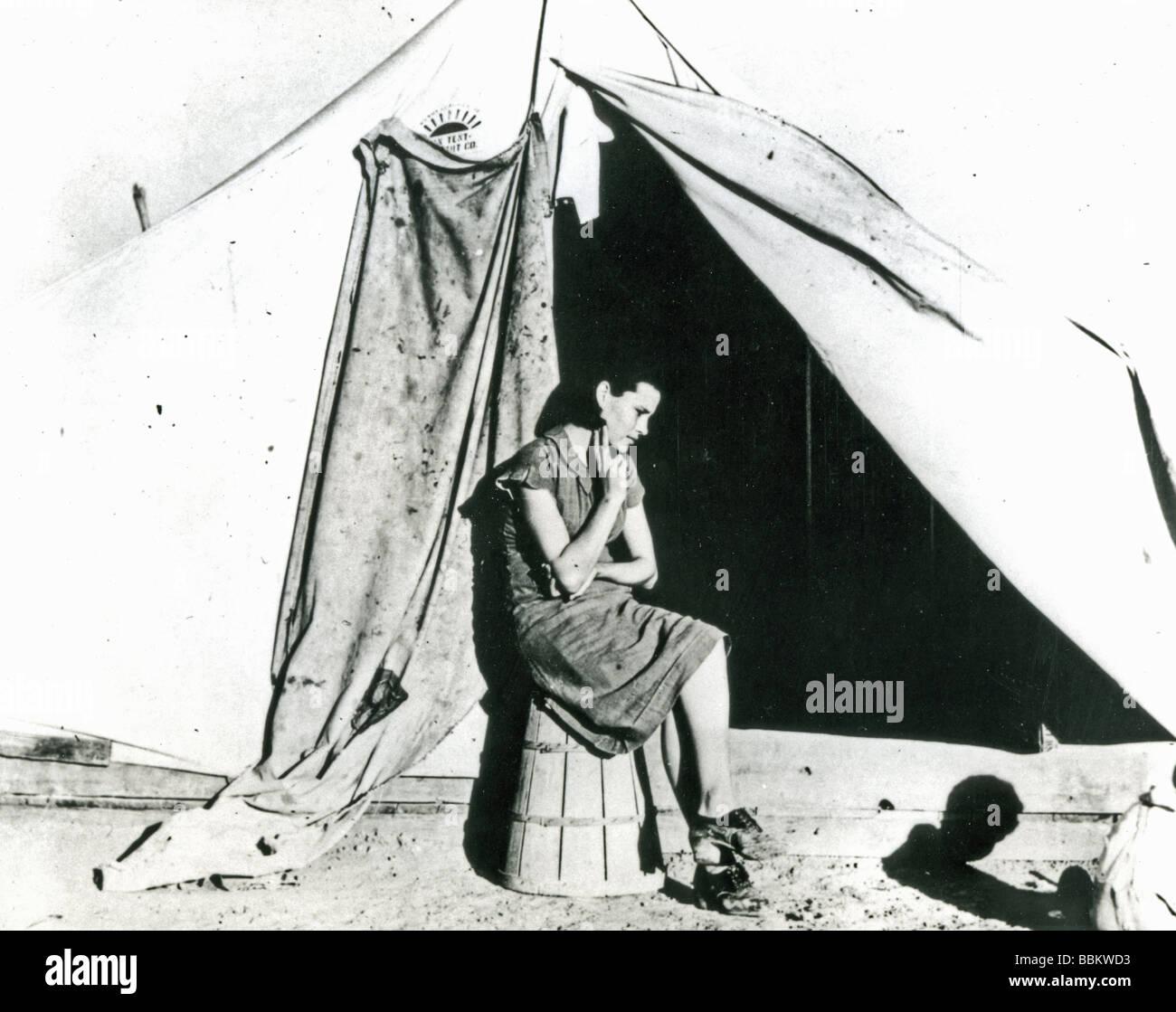 La grande depressione un migrante lavoratore madre negli Stati Uniti fotografato il 21 Feb 1940 Immagini Stock