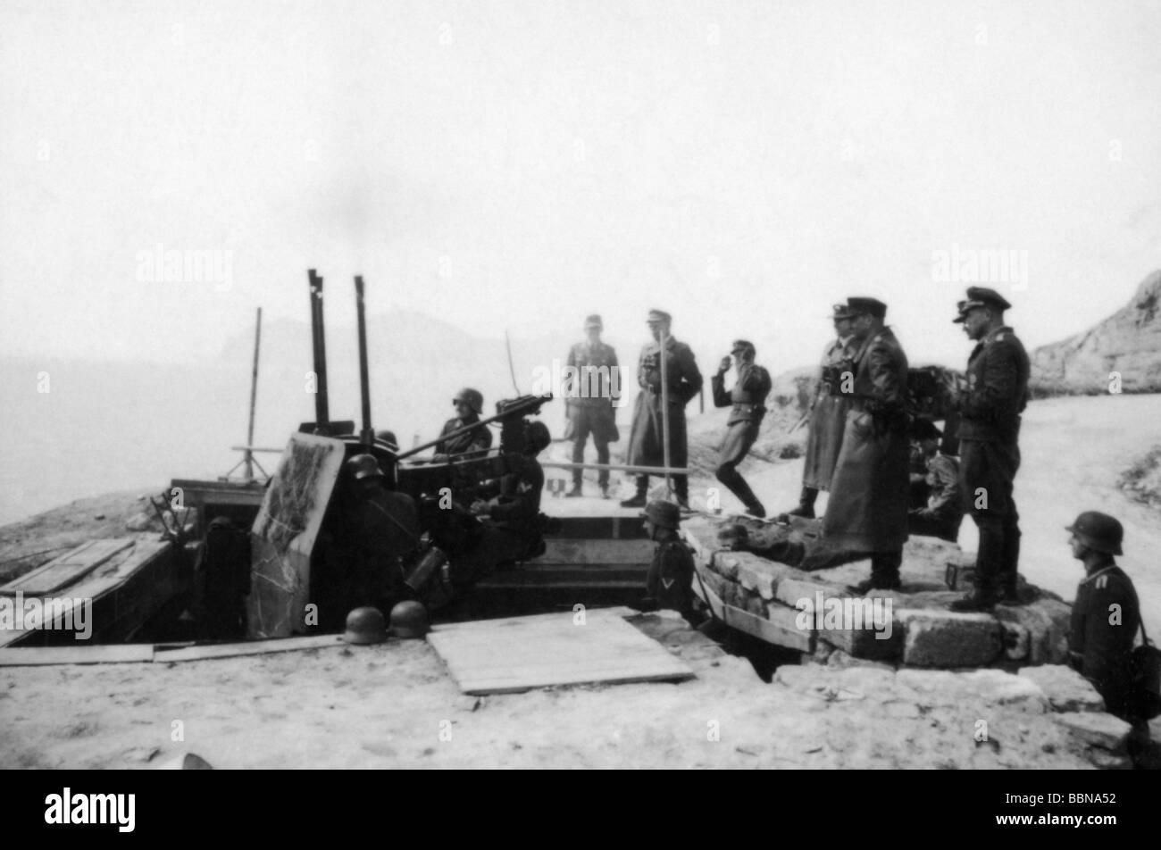Eventi, Seconda Guerra Mondiale / La seconda guerra mondiale, la Russia 1944 / 1945, Crimea, Generale Richard Reimann, Immagini Stock