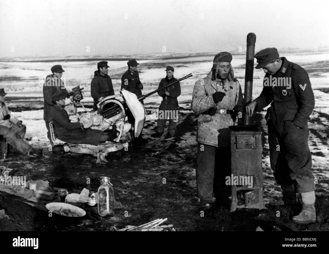 Eventi, Seconda Guerra Mondiale / La seconda guerra mondiale, la Russia 1944 / 1945, Tedesco 20 mm anti-aerei pistola Immagini Stock