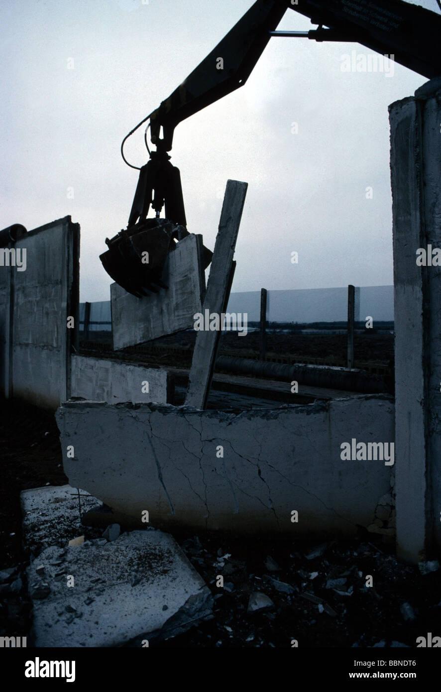 Geografia / viaggi, la Germania, la riunificazione, la caduta del muro di Berlino, gennaio 1990, Additional-Rights Immagini Stock