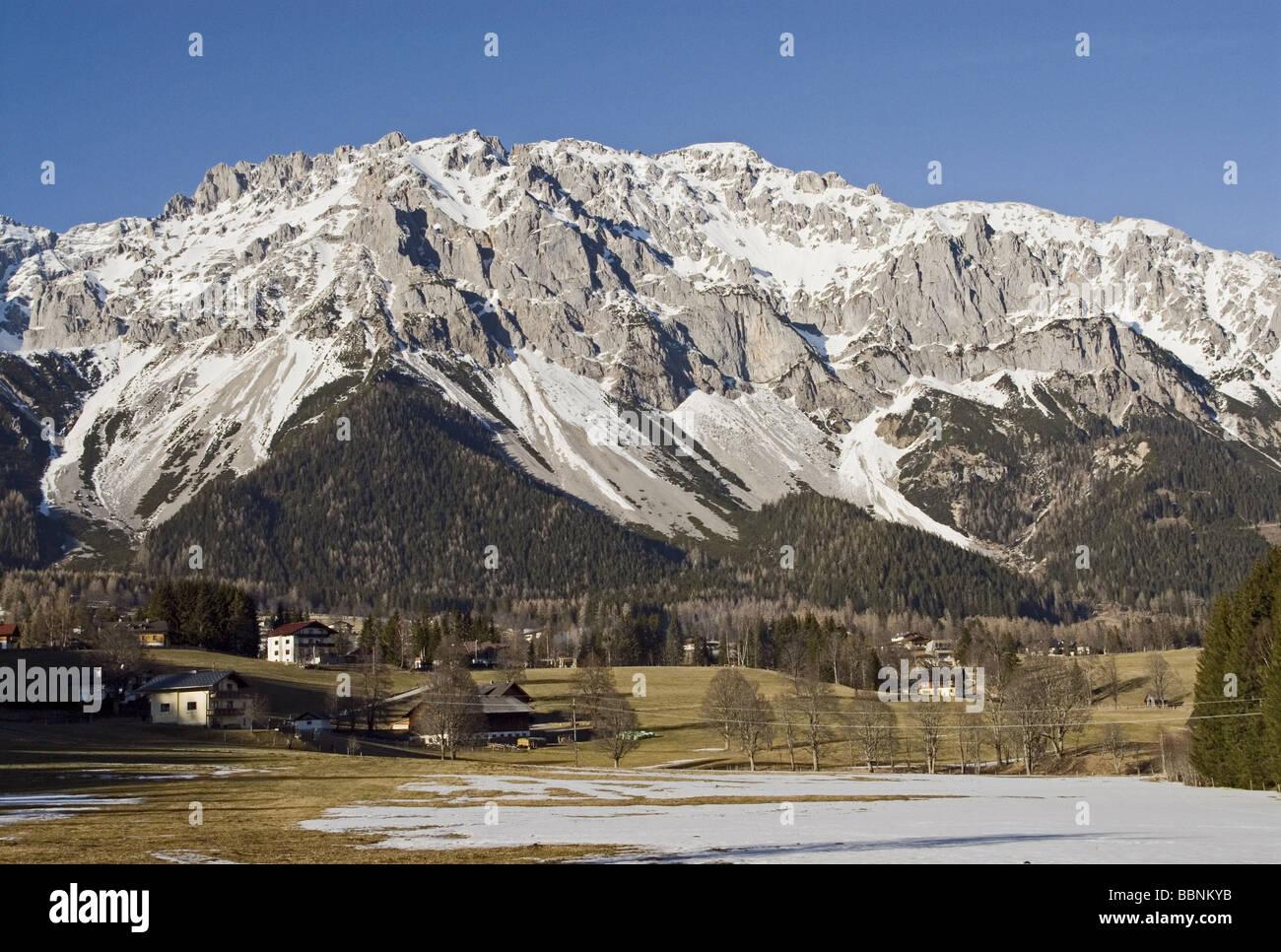 Geografia / viaggi, Austria, la Stiria, paesaggi, Ramsau am Dachstein Additional-Rights-Clearance-Info-Not-Available Immagini Stock