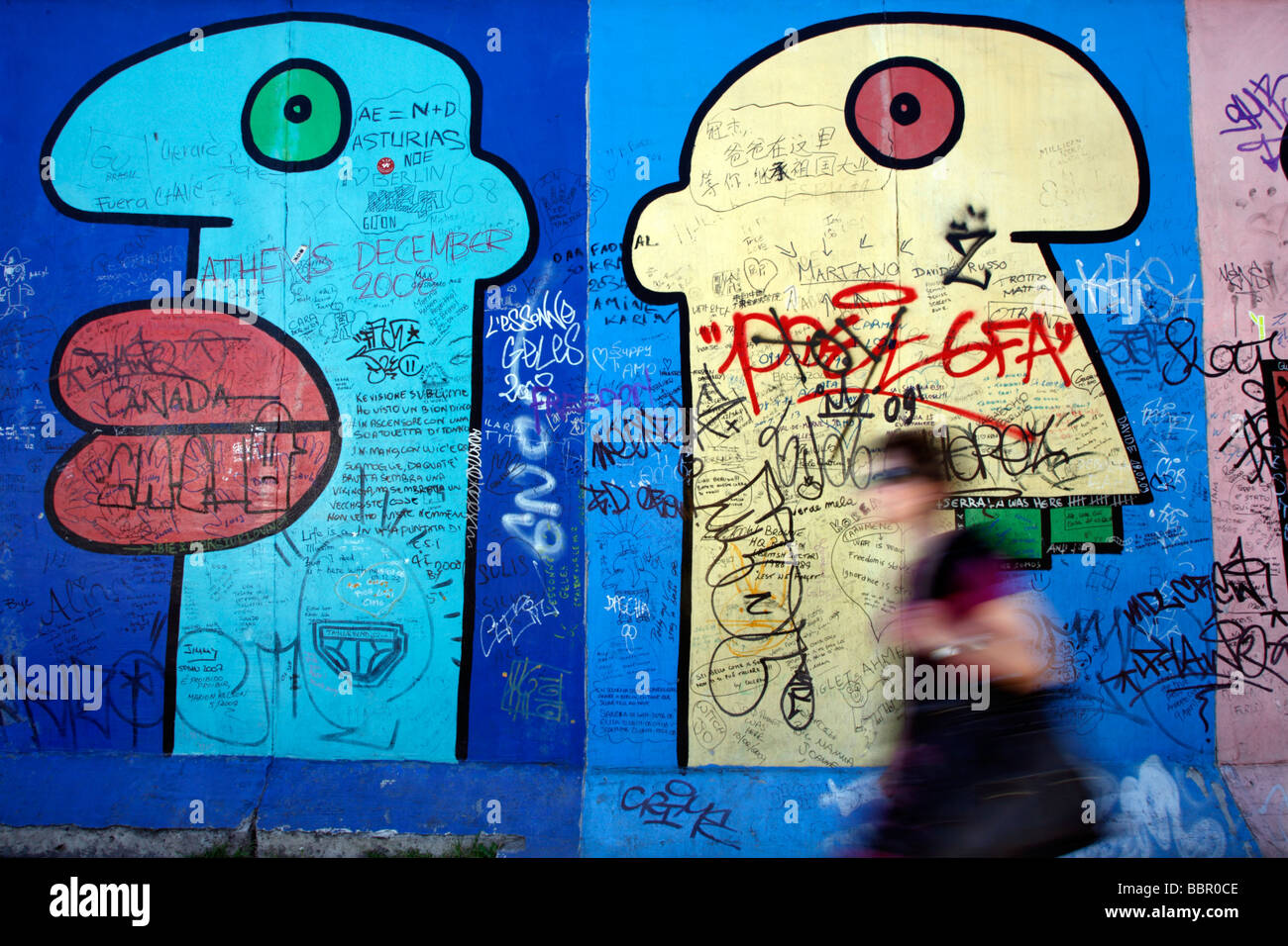 Muro di Berlino Germania Foto Stock