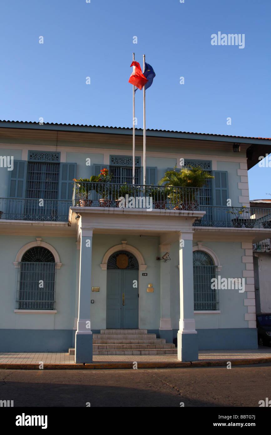Panama City Plaza de Francia ambasciata francese la costruzione di Casco Viejo Immagini Stock
