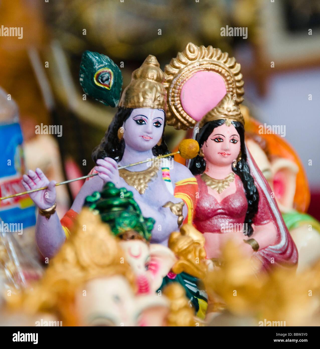 Dio indù idoli, artigianato in vendita in India Immagini Stock