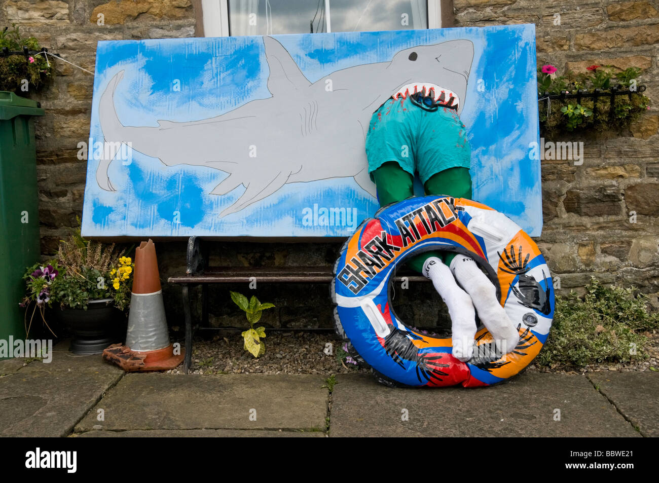 Attacco di squalo Immagini Stock