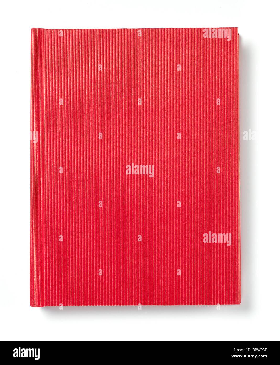 Copertina di libro rossa Immagini Stock