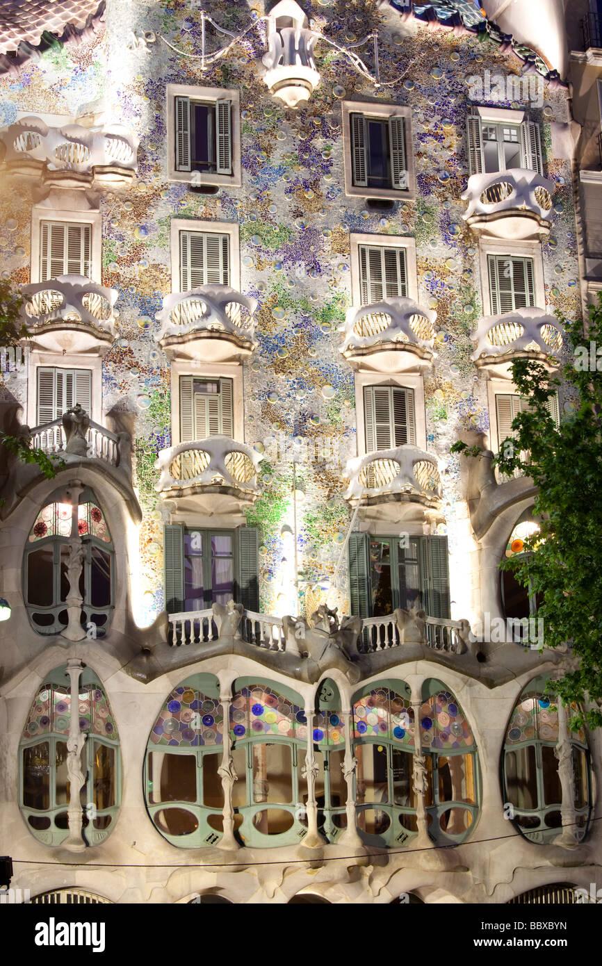 Casa Batllo, Gaudì Barcellona, Spagna Immagini Stock