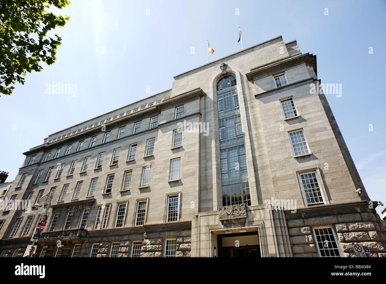 Ministero delle imprese del commercio e dell'occupazione edificio DETE Dublino Repubblica di Irlanda Immagini Stock