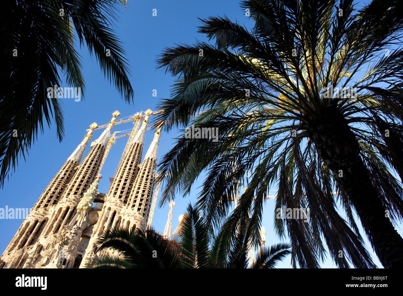 La Sagrada Familia di Barcellona, Spagna Immagini Stock
