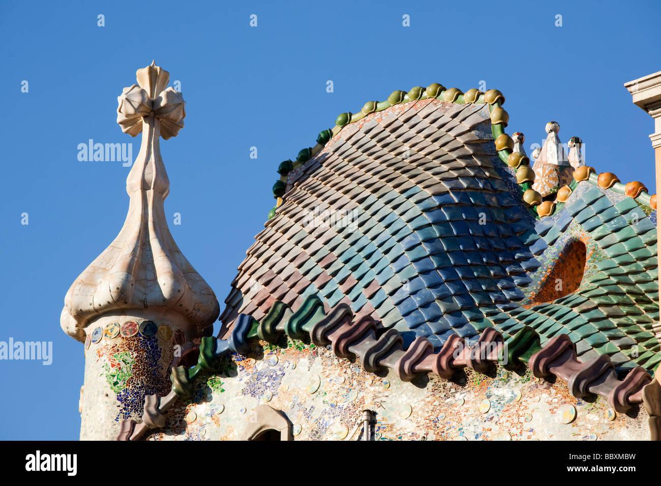 Casa Batllo Barcellona Spagna Immagini Stock