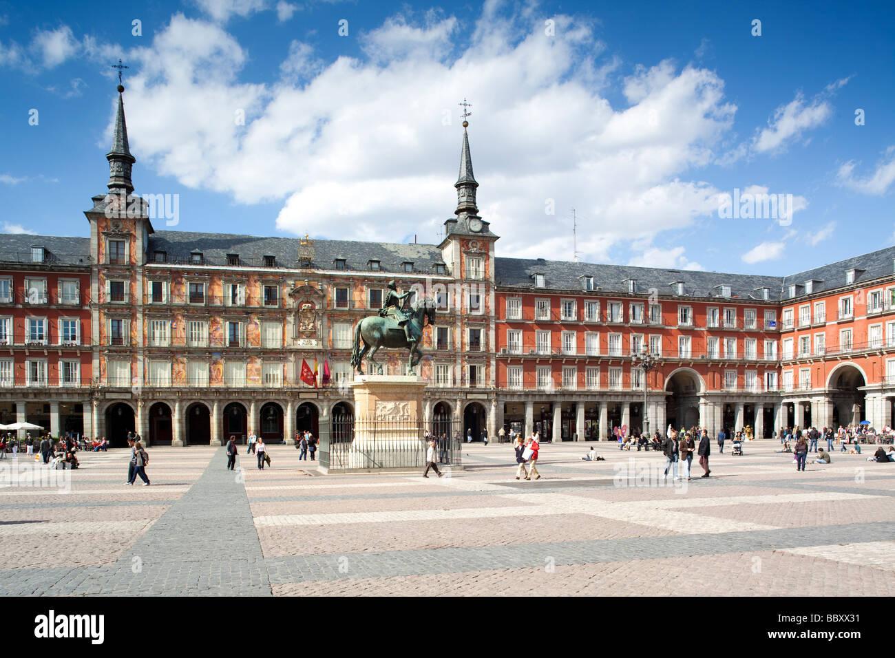 Plaza Mayor, Madrid, Spagna Immagini Stock