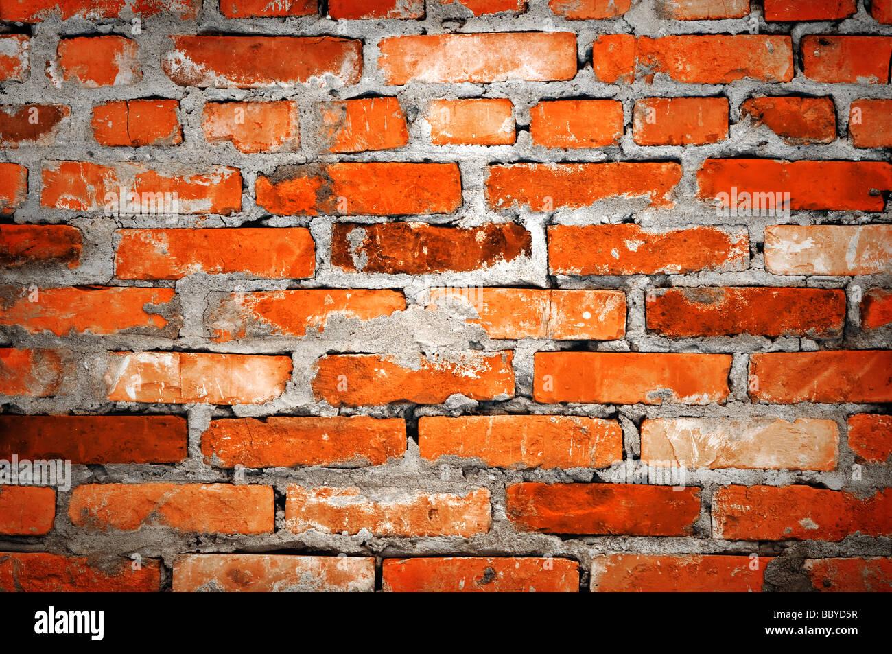 Muro di mattoni closeup Immagini Stock
