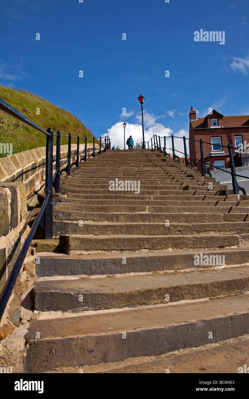 L'abbazia steps-Whitby Immagini Stock