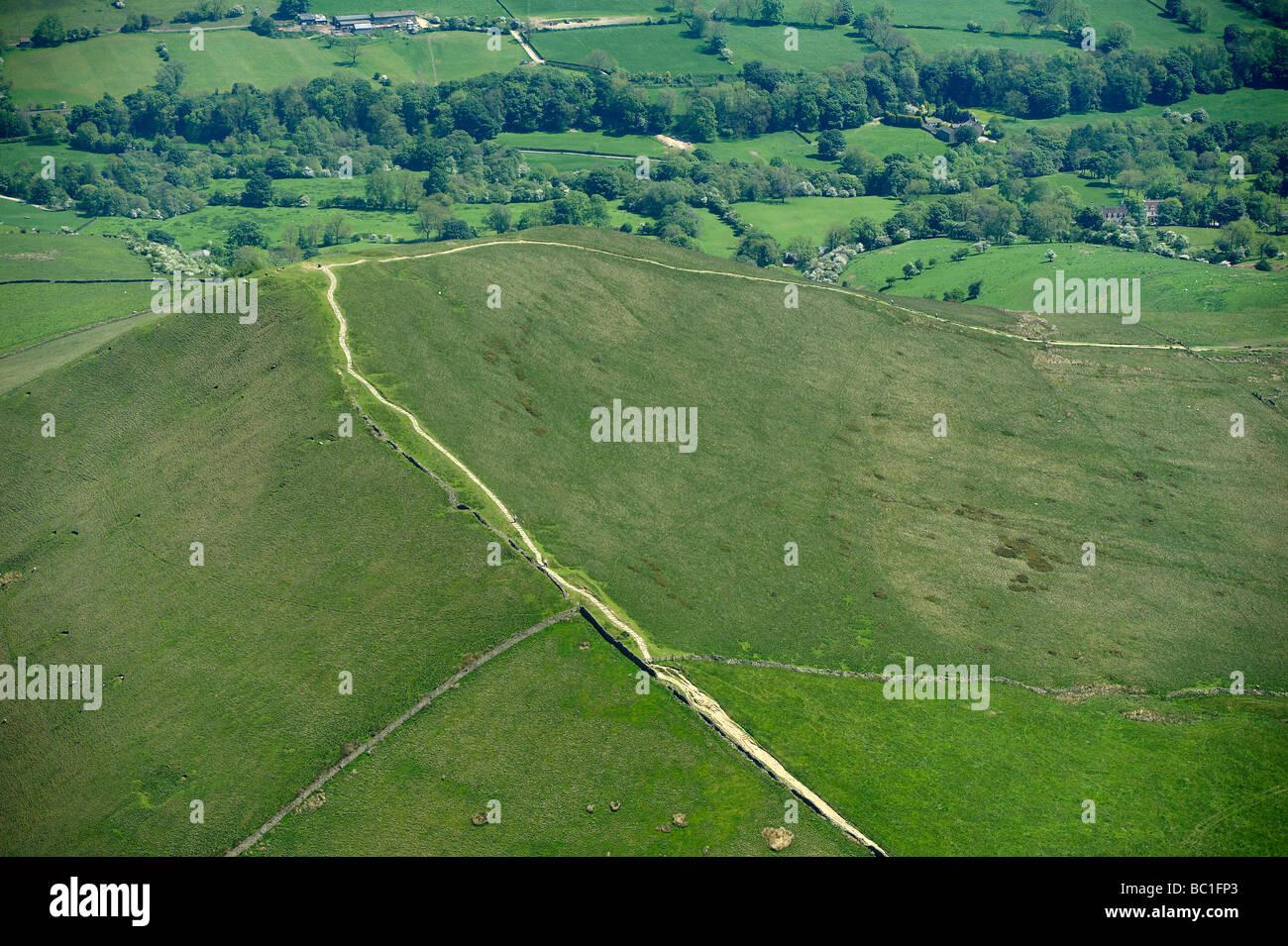 La Pennine Way, all'estremità nord di Edale, Derbyshire Peak District, nell Inghilterra del Nord Immagini Stock