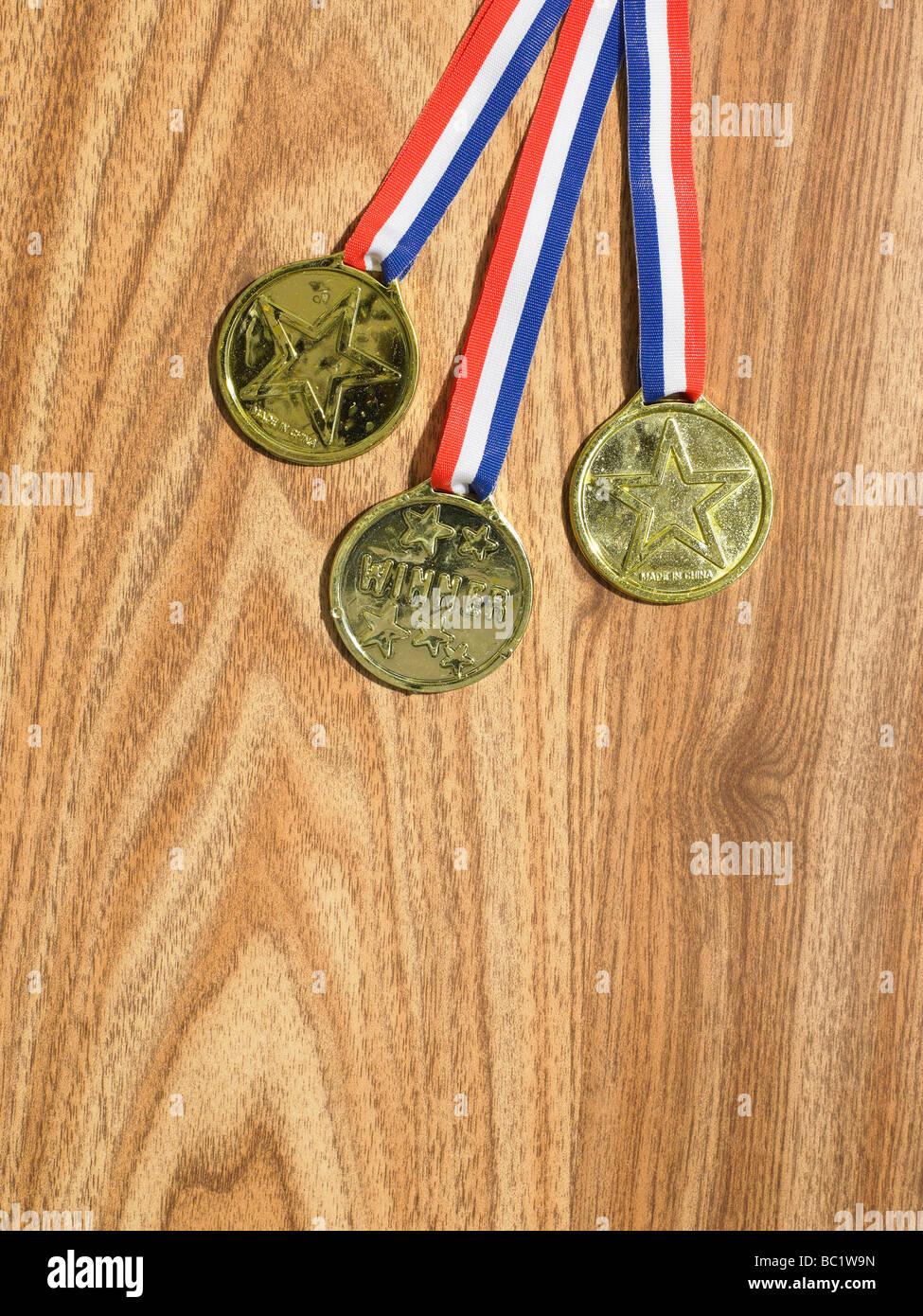 medaglie di falsi Immagini Stock