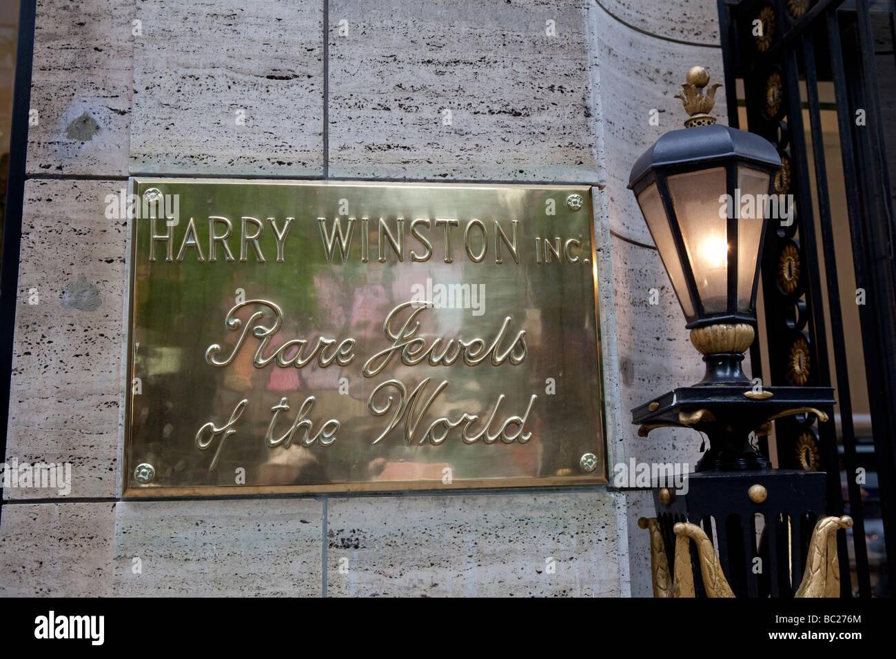 Segno Harry Winston rari gioielli NYC Immagini Stock