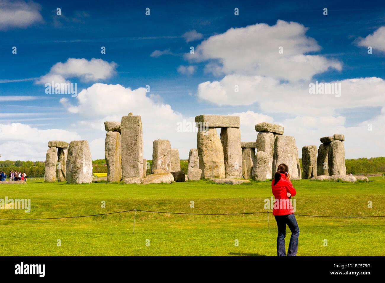 L antico monumento di Stonehenge Wiltshire, Inghilterra REGNO UNITO Immagini Stock