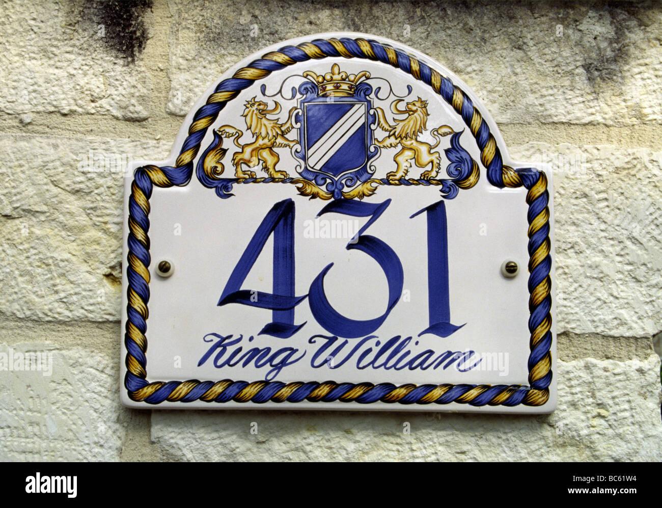 Piastrella numero civico segno sulla storica edward steves casa jr
