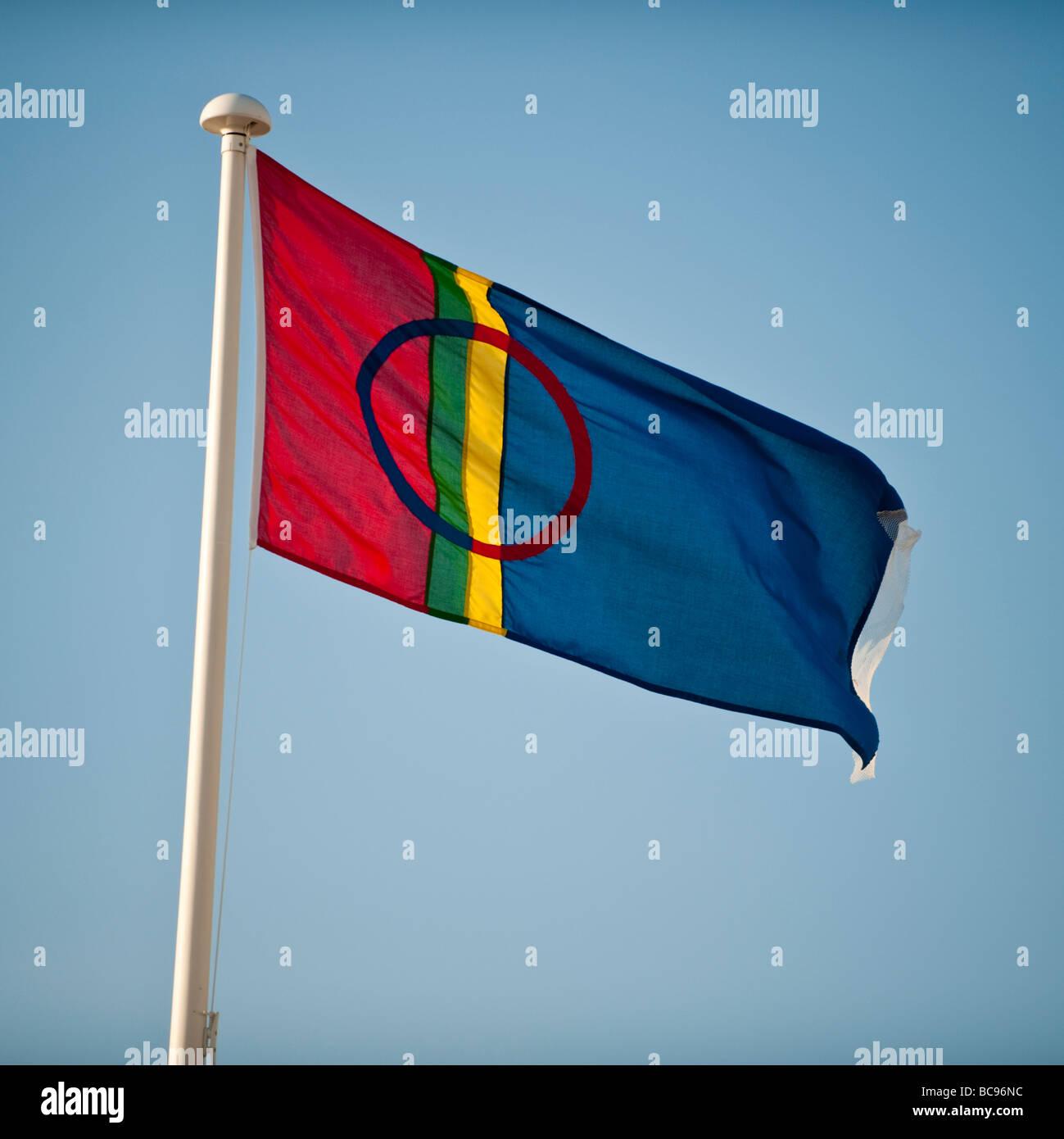 Sami Lapponia Lappland bandiera Immagini Stock