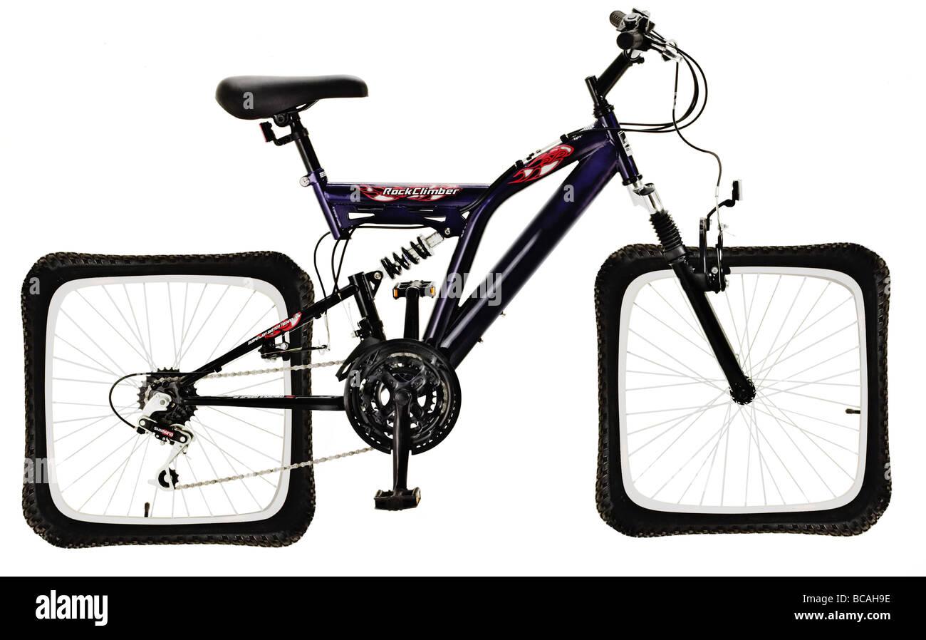 Bicicletta Con Le Ruote Quadrate