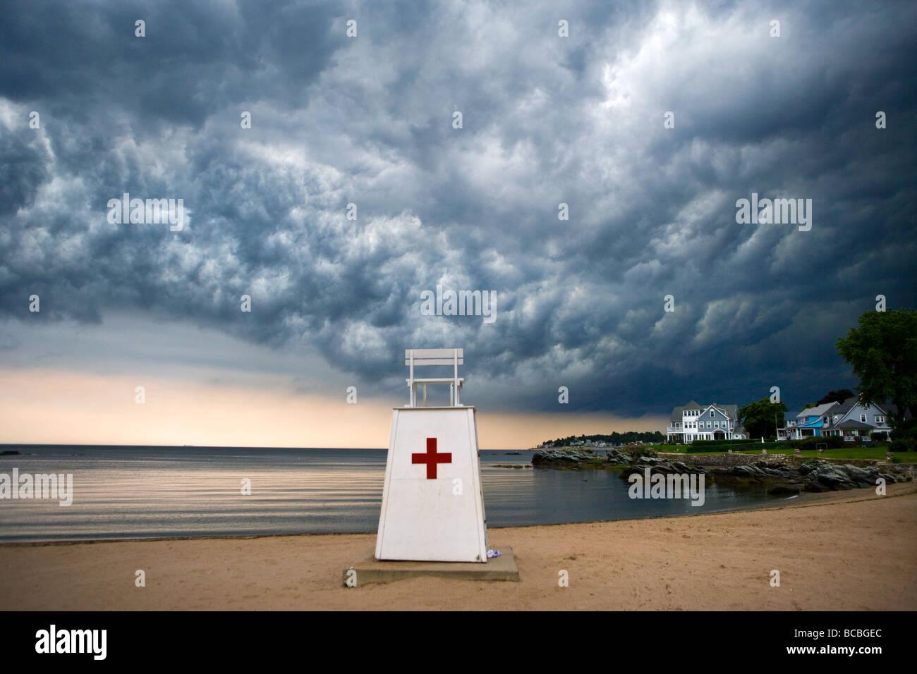 Una tempesta davanti su Milford Connecticut USA Immagini Stock