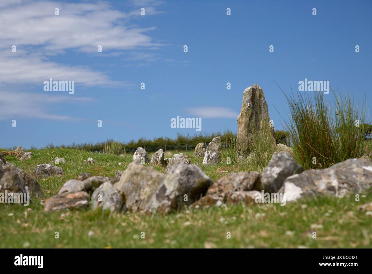 Aughlish circoli di pietra nella contea di derry Londonderry Irlanda del Nord Regno Unito Immagini Stock
