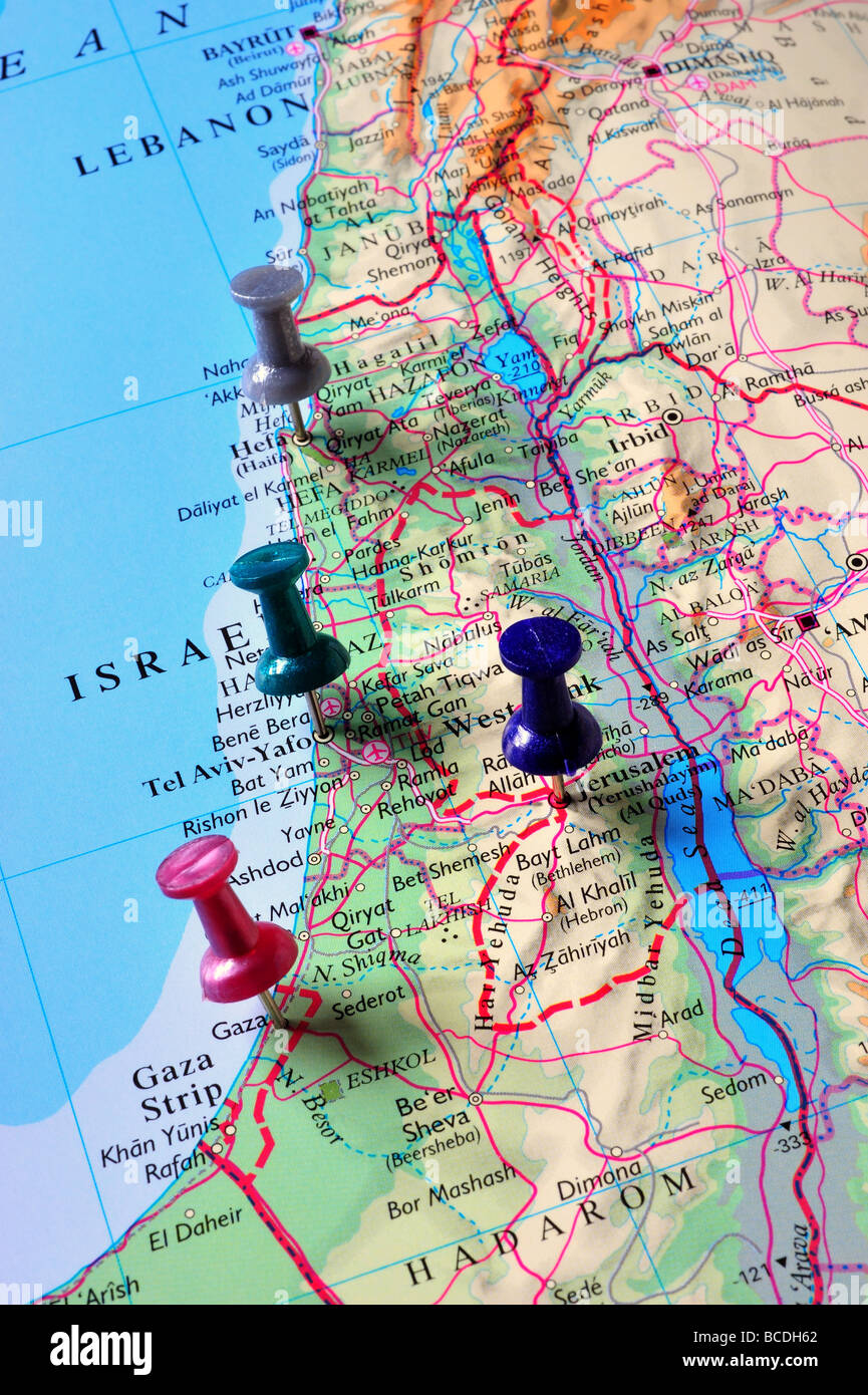 Cartina Fisica Palestina.Mappa Della Palestina Immagini E Fotos Stock Alamy