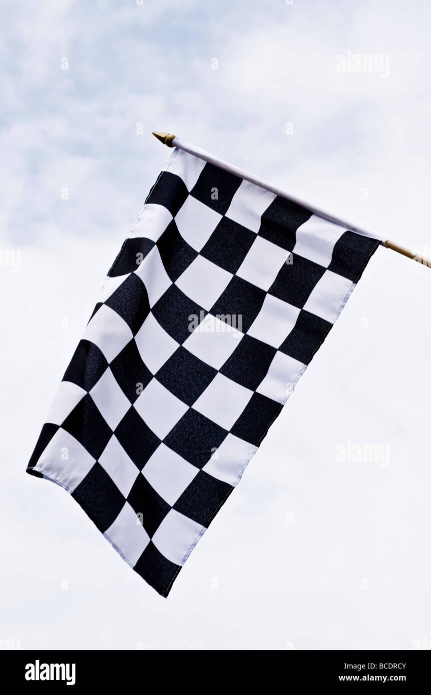 Bandiera a scacchi Immagini Stock