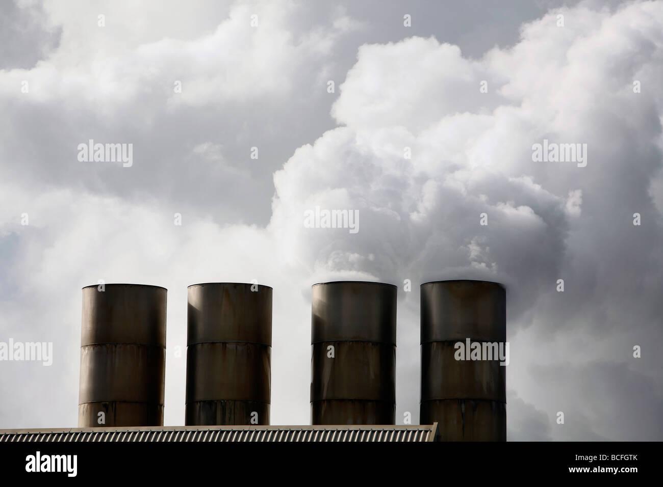 Energia geotermica impianto Islanda Immagini Stock