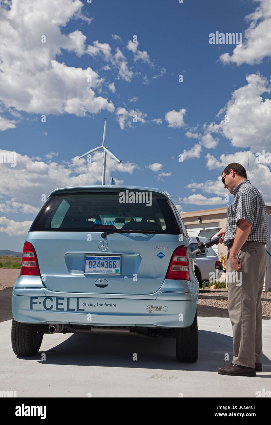 L'energia eolica è convertito ad idrogeno a livello nazionale delle Energie Rinnovabili del laboratorio Immagini Stock