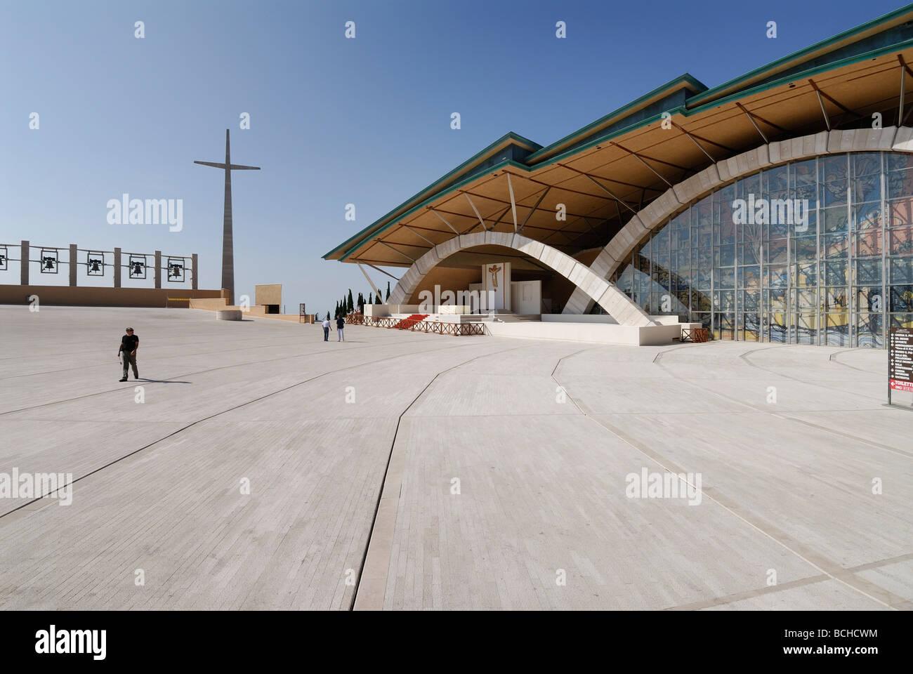San Giovanni Rotondo Puglia Italia Santuario di Padre Pio progettata da Renzo Piano Immagini Stock