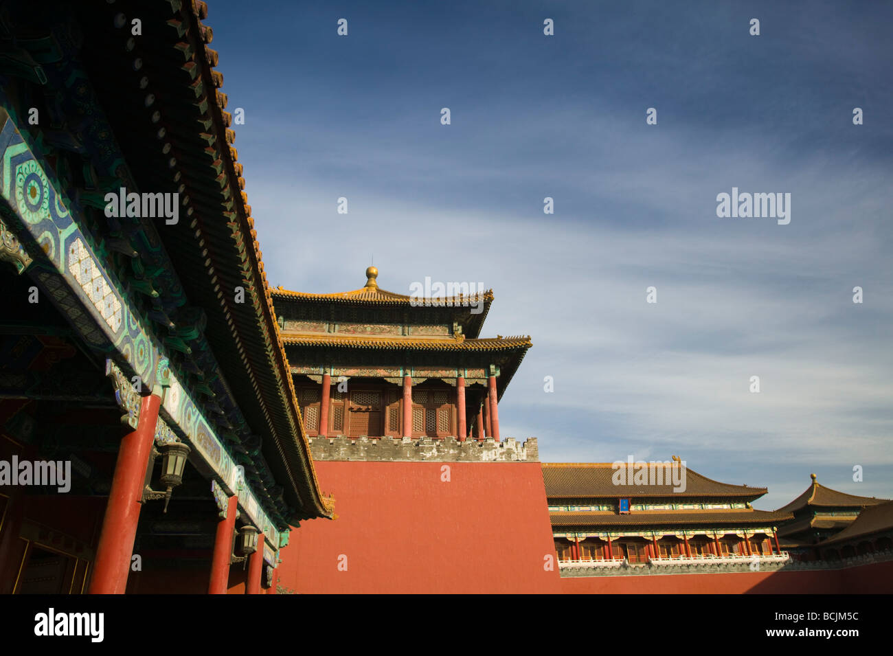 Cina, Pechino, Città Proibita, Meridian Gate Foto Stock