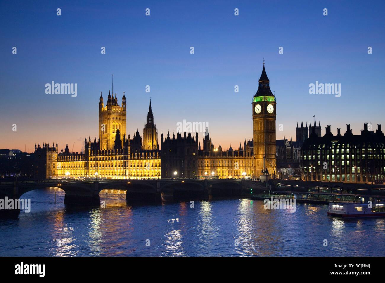 Big Ben & Case del Parlamento di Londra, Inghilterra Immagini Stock