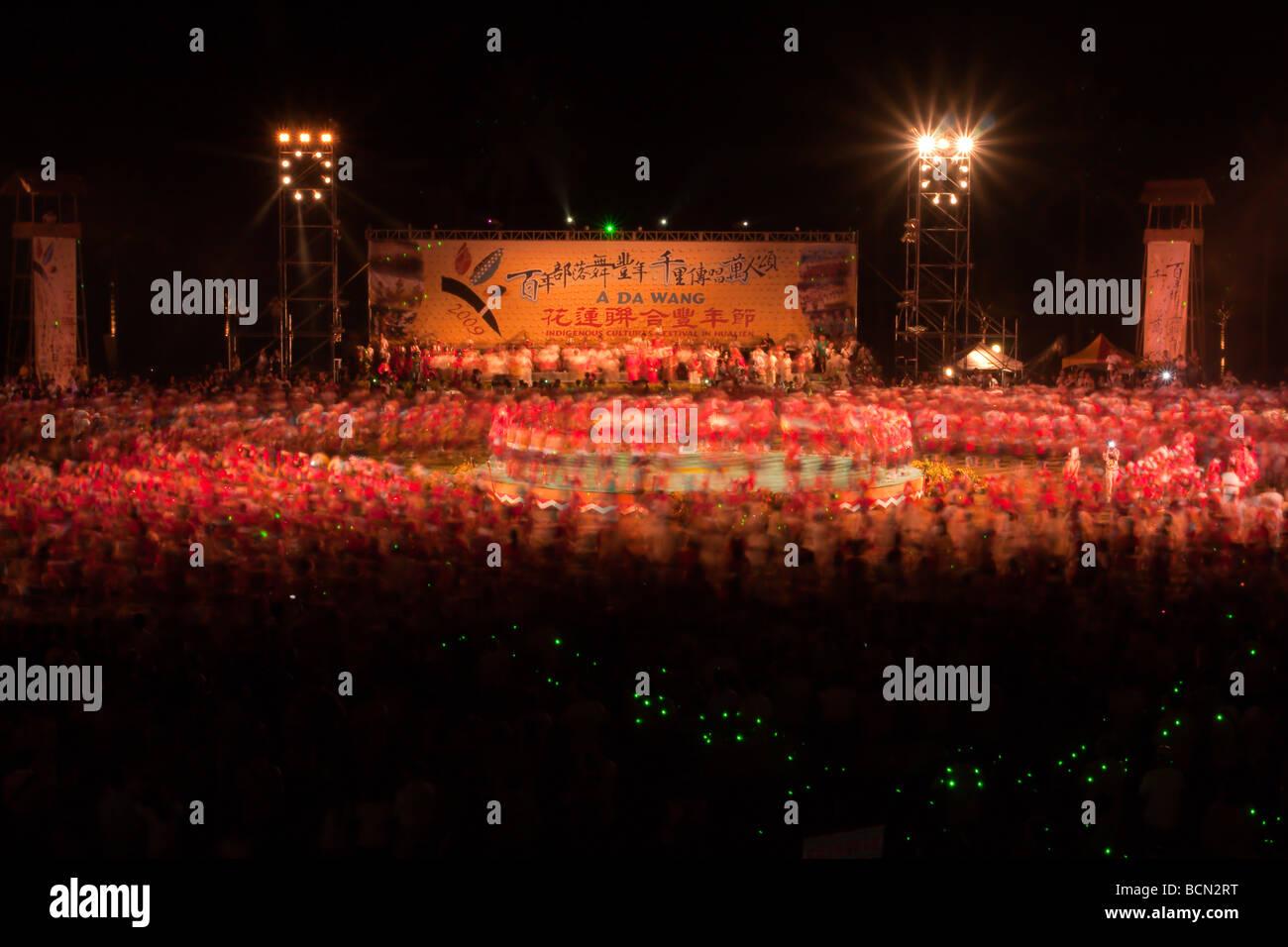 "2009 ""Un DA WANG' Culture Indigene Festival (Aboriginal Harvest Festival) a Hualien City, Hualien County, Immagini Stock"