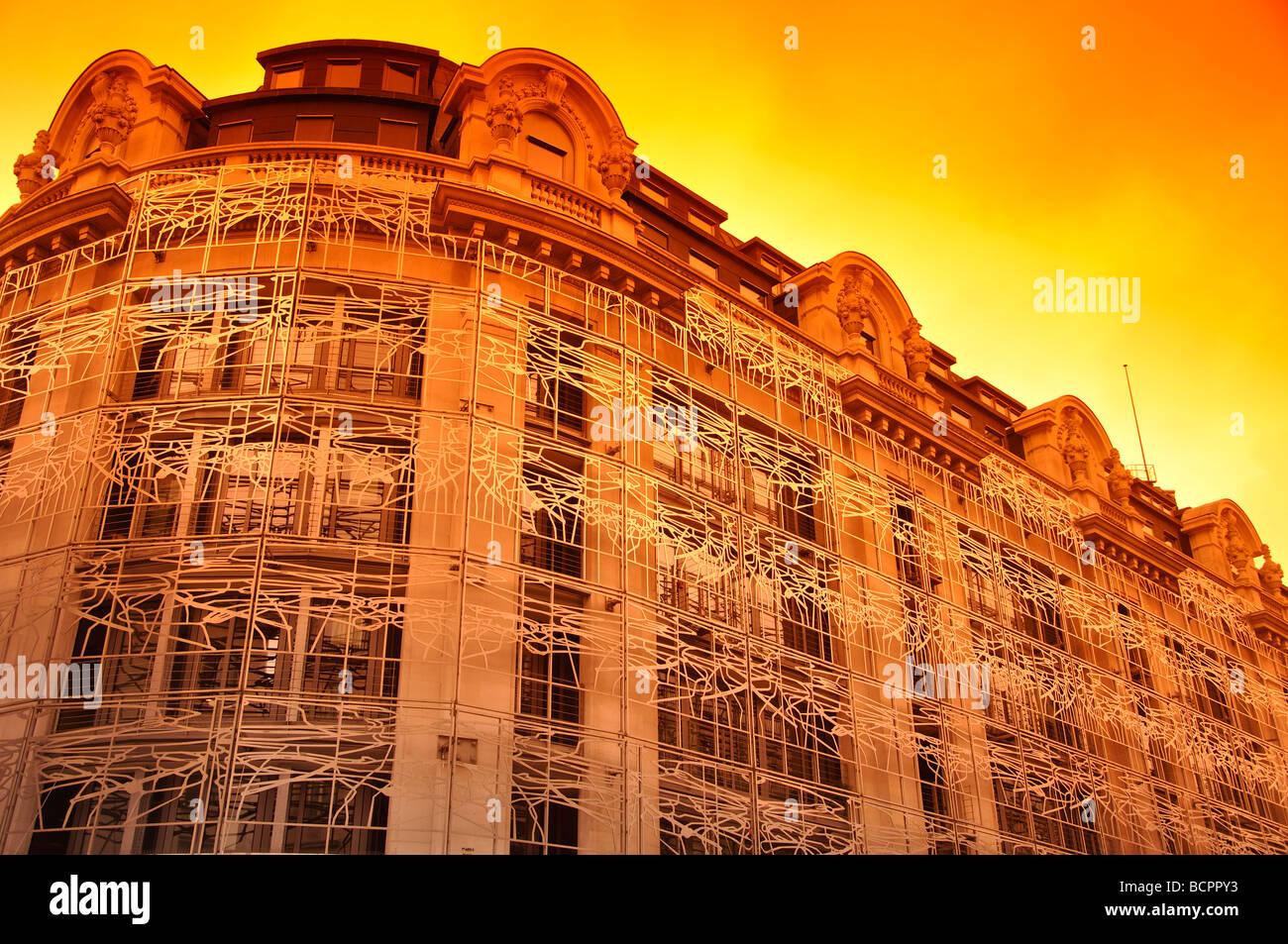 Ministero della cultura edificio di Parigi al tramonto Foto Stock