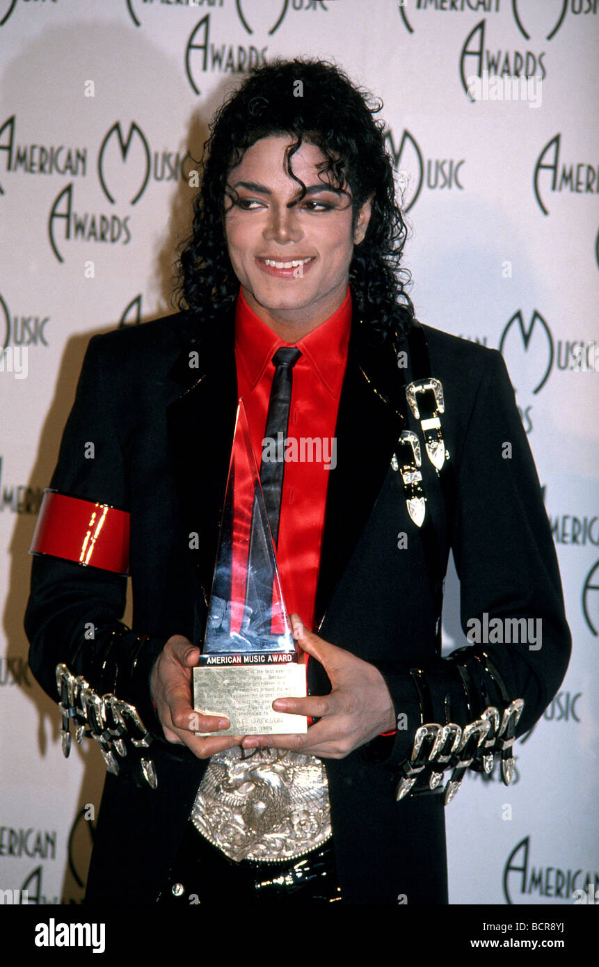 MICHAEL JACKSON al 1989 American Music Awards Immagini Stock