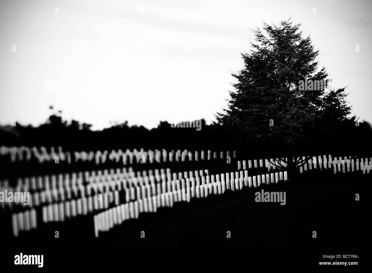 British cimitero militare di torino di sangro, Italia Immagini Stock