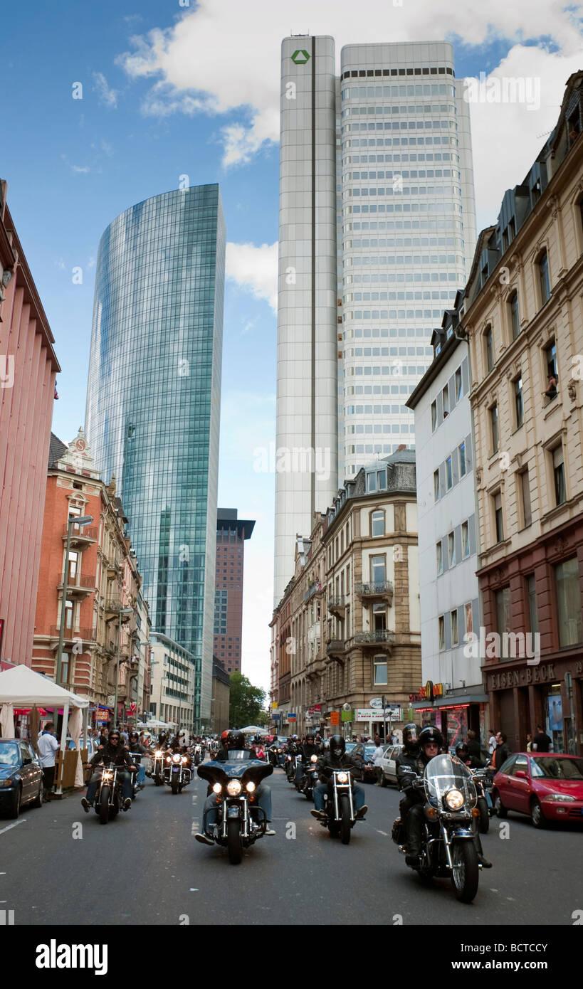 Parata di moto, criminalità City Run, Francoforte Hesse, Germania, Europa Immagini Stock