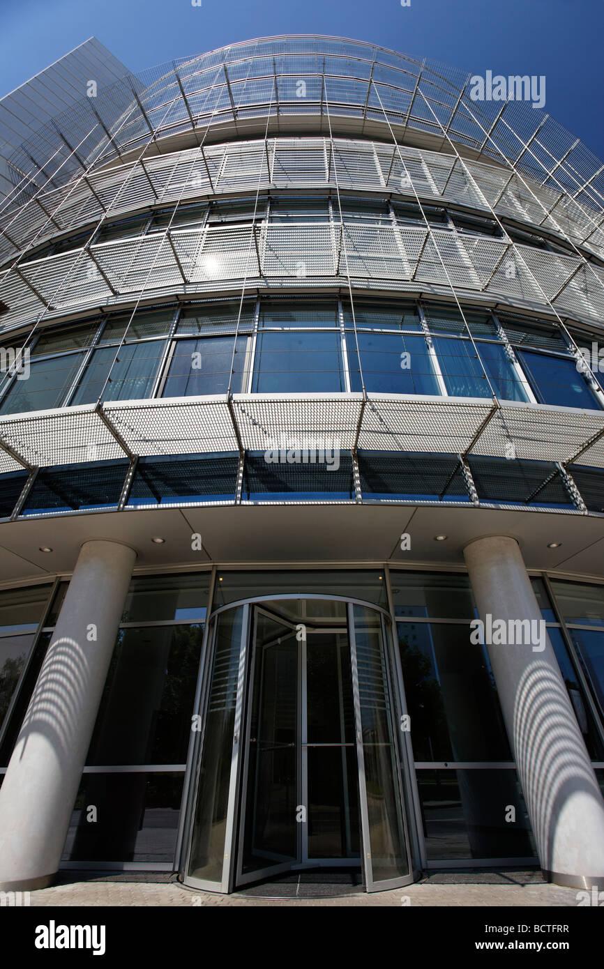Moderno edificio di uffici, commercio equo administration, Norimberga Centro Congressi, CCN, al centro esposizioni, Immagini Stock