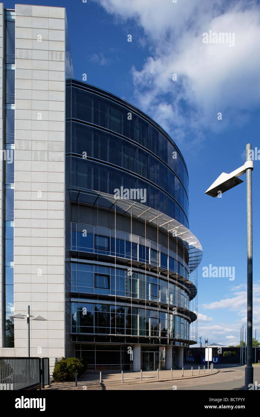 Edificio per uffici, edificio circolare, amministrazione, Norimberga Centro Congressi, CCN, equo, Norimberga, Middle Immagini Stock