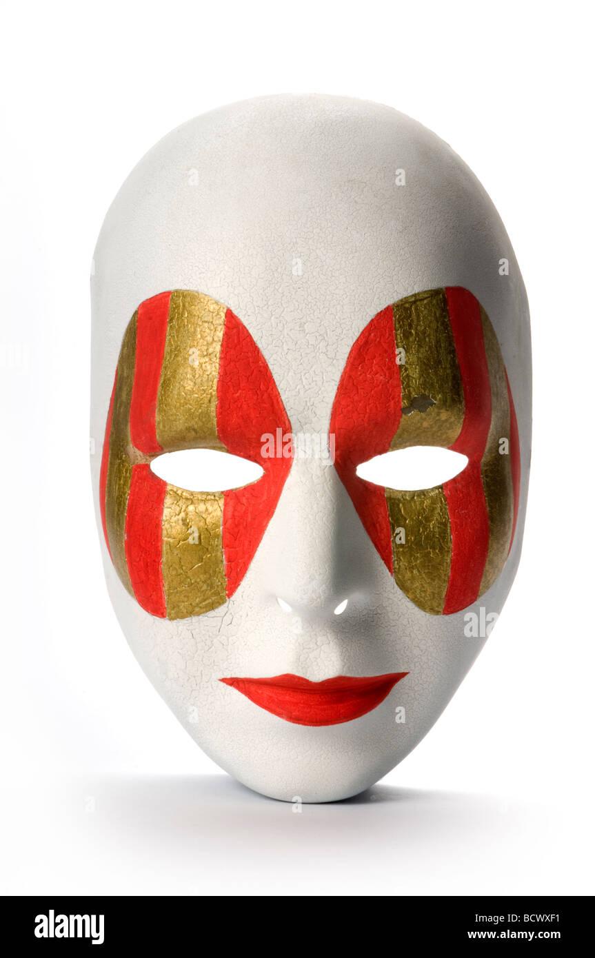 Maschera su sfondo bianco Immagini Stock