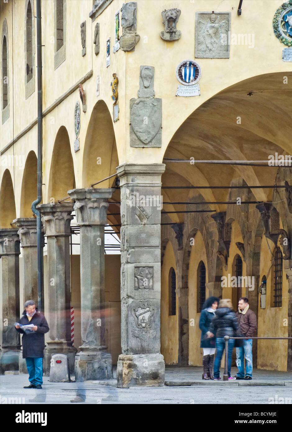 Pretorian palace, San Giovanni Valdarno, Toscana, Italia Foto Stock