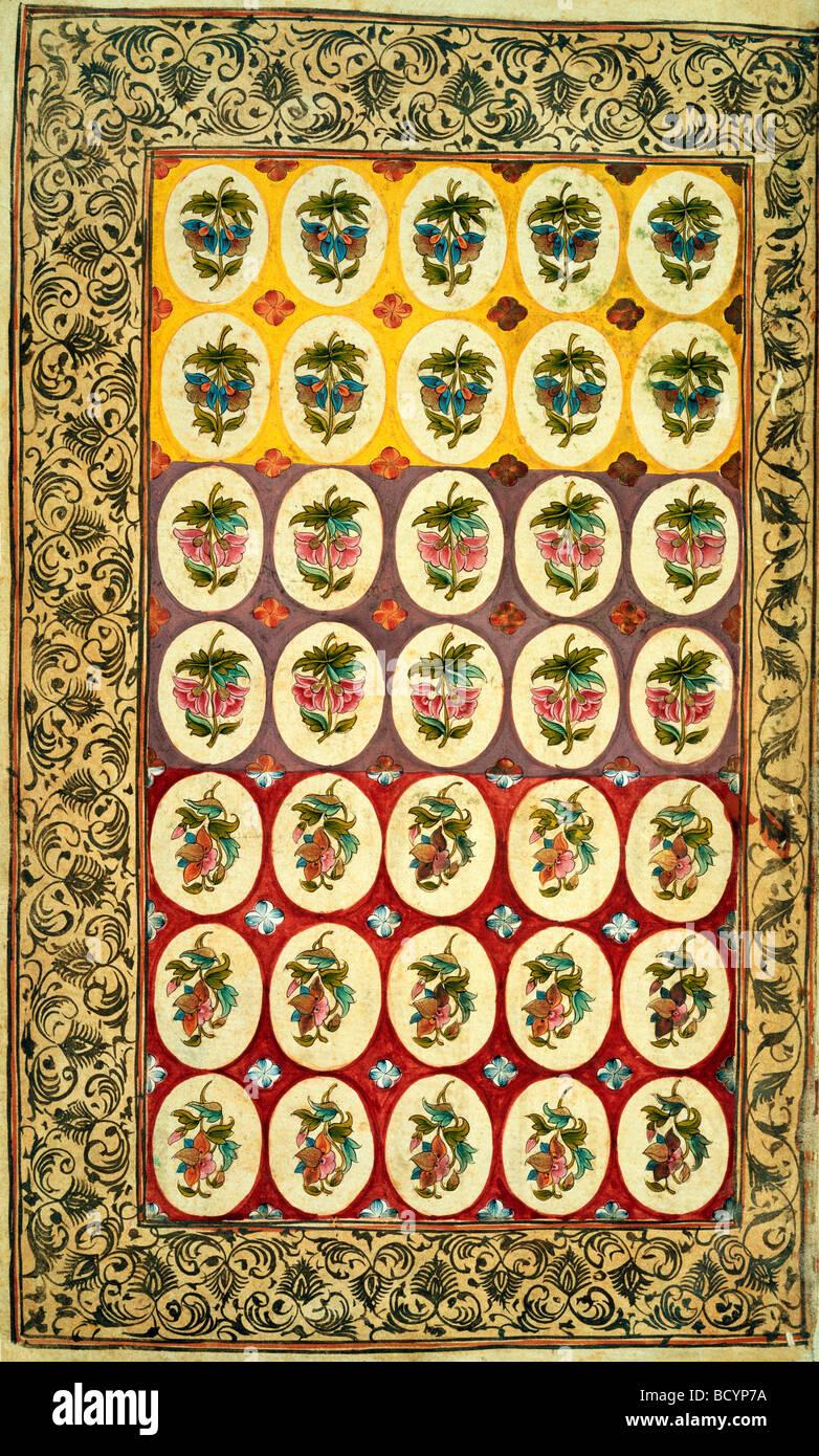 Il design tessile. India, XVIII secolo Immagini Stock