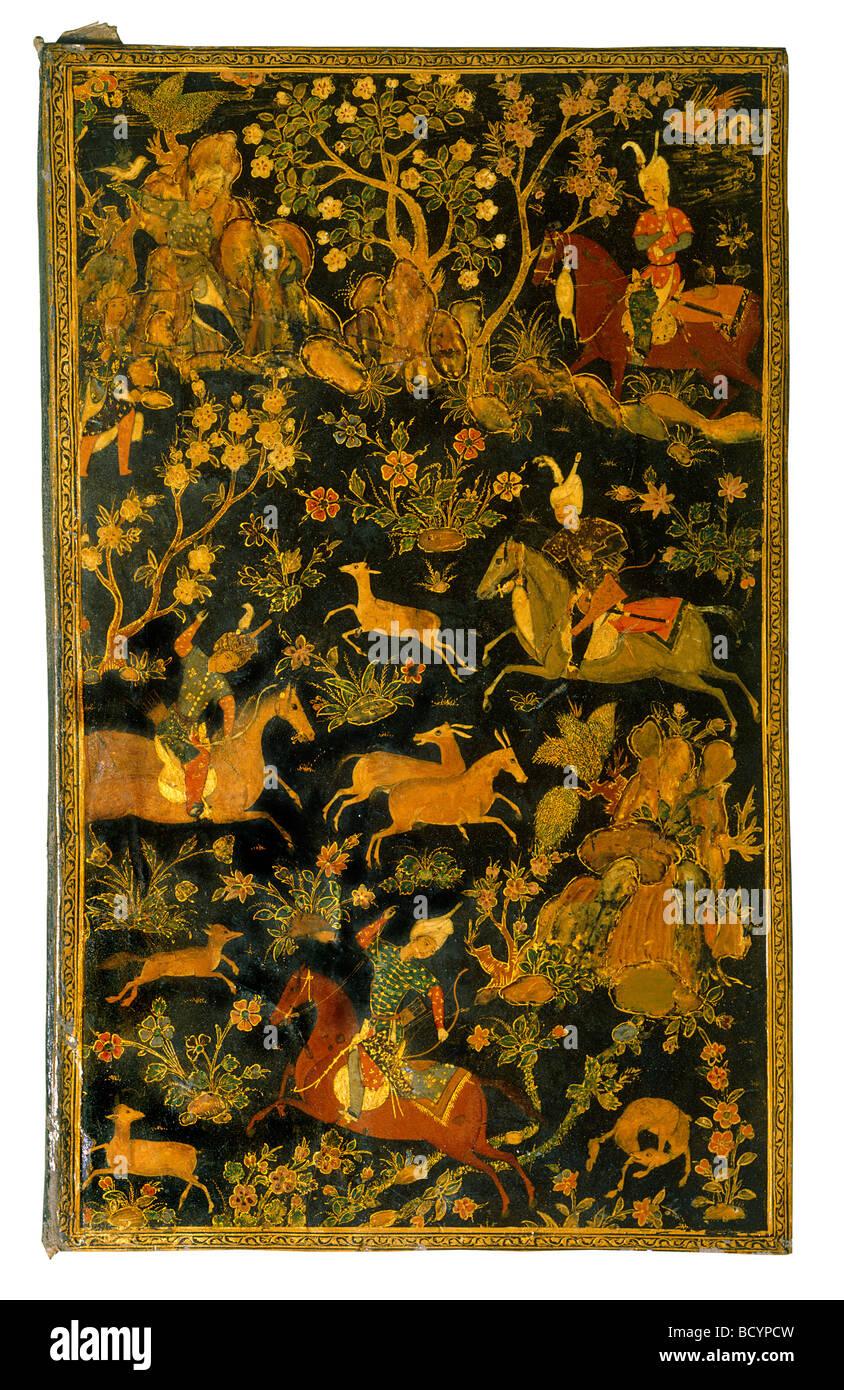 La copertina del libro. La Persia, XVI secolo Immagini Stock